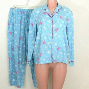 Victoria's Secret Pajama Set 100% Cotton Snowflake